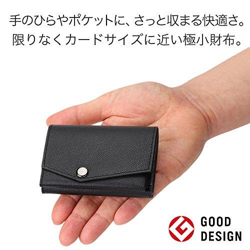 小さい財布abrAsus(アブラサス)左きき用ブラック