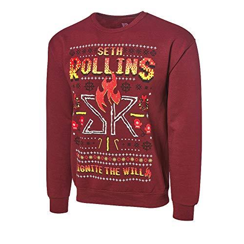Seth Rollins Ignite The Will Ugly Holiday Sudadera Negro Extra Grande