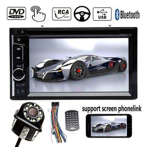 Check Out This Car CD DVD Stereo HD Bluetooth AUX Car Stereo Radio Dash Kit 6.2inch USB Phonlink SWC...