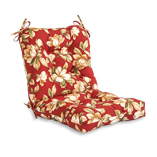 Greendale Home Fashions AZ4808-ROMAFLORAL Tuscan Floral 38'' x 21'' Outdoor Seat/Back Chair Cushion