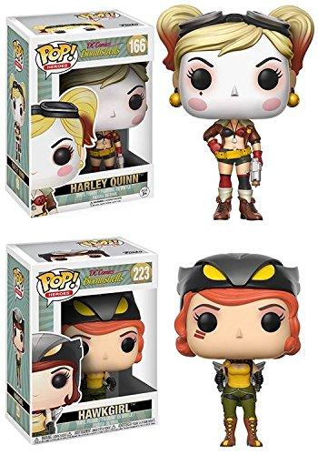 Funko POP! DC Bombshells: Harley Quinn + Hawkgirl