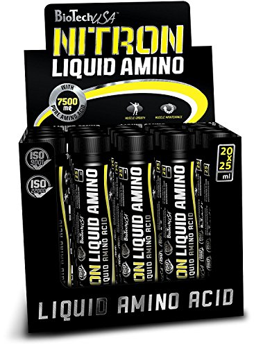 Liquid Amino Shots (Nitron Ampulle) Zitrone 20 * 25ml - Aminosäuren in flüssiger Form - BiotechUSA