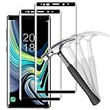 NUOCHENG Verre Trempé pour Samsung Galaxy Note 9, 2 Pièces 3D Couverture Complète, Dureté 9H, Anti Rayures, sans Bulles Film Vitre Protection d'écran Samsung Galaxy Note 9