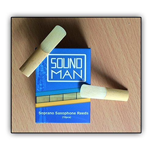 10 Ance Soundman® per Sassofono Soprano (durezza: 2,5) Saxophone Reeds Ancia