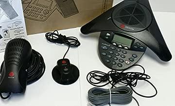 Polycom SoundStation 2 EX with 2 Mics Included (2200-16200-001)+(2200-16155-001) by Polycom (Renewed)