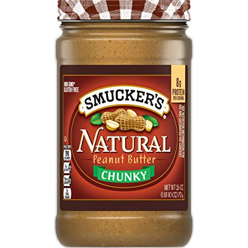 Smucker's Natural Chunky Peanut Butter, 26 Ounces (Pack of 6)