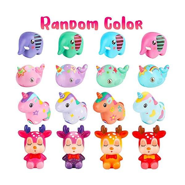 BeYumi Slow Rising Toy, Unicorn, Panda, Deer, Cat Squishy Toy, Kawaii Jumbo 10 Pcs Cream Scented Simulation Cute Animal… 4