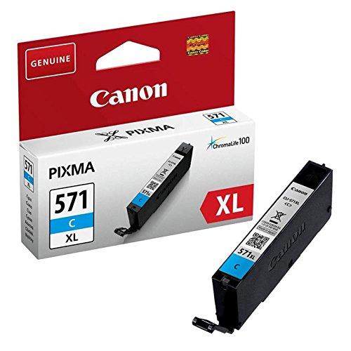 Canon CLI-571 XL C Druckertinte Cyan - hohe Reichweite 10.8 ml für PIXMA Tintenstrahldrucker ORIGINAL