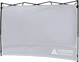 Leader Accessories Instant Canopy SunWall Side Wall for 10x10 Feet, 10x20 Feet Straight Leg pop up Canopy, 1 Pack Side Wall Only, Silver
