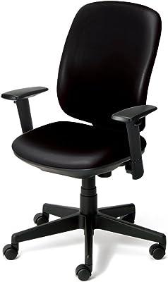 プラス デスクチェア オフィスチェア プリセア ビニールレザータイプ ブラックシェル ハイバック アジャスト肘 KD-K63NL ブラック 657-720