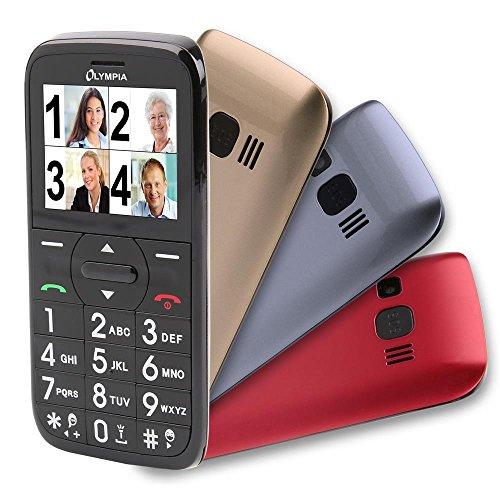 OLYMPIA Happy II Komfor Seniorenhandy Mobiltelefon mit Großtasten und Farbdisplay Notruftaste