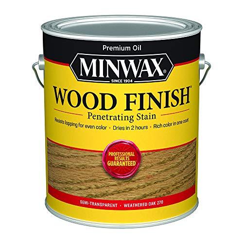 Minwax 710470000 Finish Penetrating Interior Wood Stain, Gallon, Weathered Oak