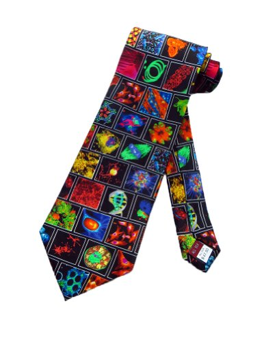 Museum Artifacts Mens Microbiology Medicine Necktie - Black - One Size Neck Tie