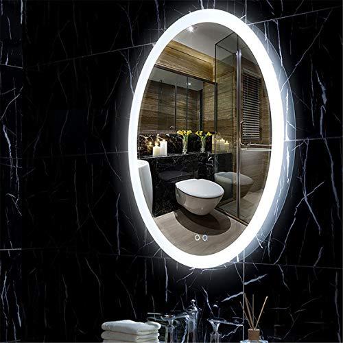 HL - Interruptor táctil para espejo de baño (500 x 700 mm, 500 x 700 mm), color blanco