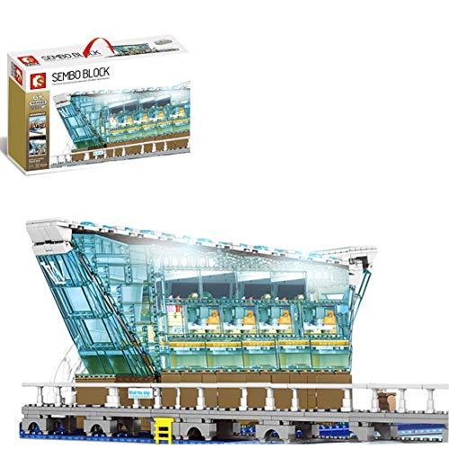 PEXL Juego de construcción para casa, centro comercial LV, arquitectura modular modelo con iluminación LED, 2530 bloques de sujeción, compatible con Lego