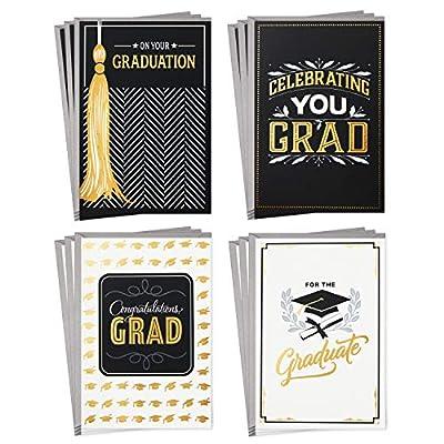Hallmark Graduation Cards Assortment, Congratulations Grad (12 Cards and Envelopes, 4 Designs)