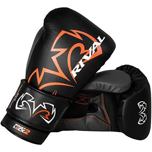 RIVAL Boxing Evolution Hook and Loop Sparring Gloves - 18 oz. - Black