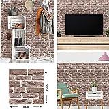 Impermeable fácil aplicación fondo de pantalla ext Teja moderna auto-adhesivo del papel pintado 3D imitación de ladrillo de la pared del panel pared de la cocina pegatinas baño bricolaje Adhesivos de