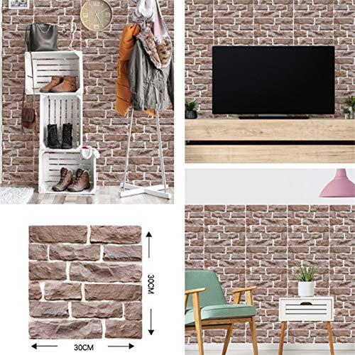 kengbi Bequemer Installation Mehrfachzweck Moderne Self Adhesive Wallpaper 3D-Imitation Ziegelstein-Fliese for Küche Wall Panel-Wand-Aufkleber Badezimmer DIY Wandaufkleber Home Decor