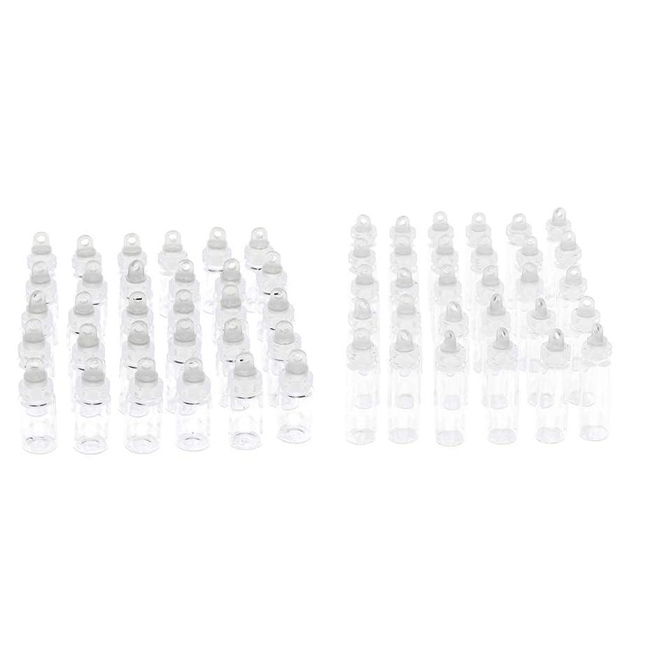 炭水化物枕タンパク質1ml+2ml 香水瓶 エッセンシャルオイルボトル ガラス DIY 装飾 ペンダント 贈り物 60個入