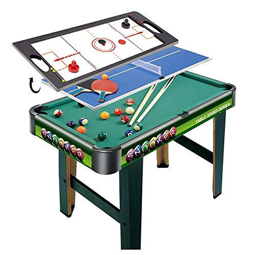 Multi Game Combination Table Set Indoor Game Table 3 In 1 Entertainment Table 32' For Pool Table Table Tennis Slide Hockey For Kids FDWFN