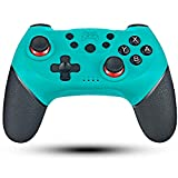 Manette pour Switch Sans Fil, Maegoo Bluetooth Wireless Switch Manette Pro Gamepad Joypad Joystick for Nintendo Switch avec 6 Axis-Gyro et Sensor Turbo et Dual Moteurs Vibration (Blue)
