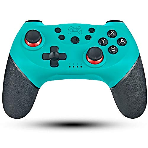 Maegoo Wireless Controller per Nintendo Switch, Bluetooth Wireless Nintendo Switch Controller Gamepad Joystick Switch Lite Joypad Supporta Sensor 6 Gyro Axis, Turbo e Dual Motor Vibration (Blu)