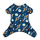 CuteBone Dog Pajamas Rocket Dog Apparel Dog Jumpsuit Pet Clothes Pajamas P16S