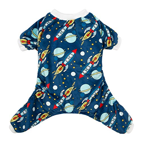 CuteBone Rocket Dog Pjs Medium Onesies Pet Clothes Jumpsuit Apparel Soft Pajamas P16M