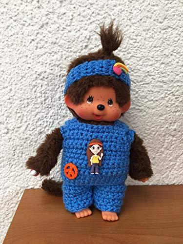 Kleidung für Monchichi Gr. 20 cm Shirt und Hose Hippie