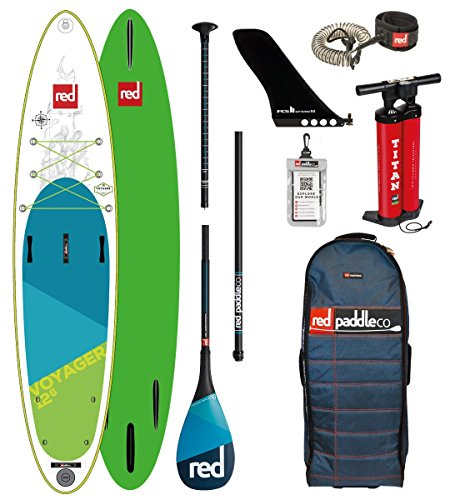 Red Paddle Co 2018 Voyager 12'6 Inflatable Stand Up Paddle Board +...