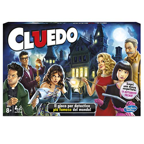 Hasbro Gaming Set in Familie Cluedo (HASBRO 38712) italienische Version