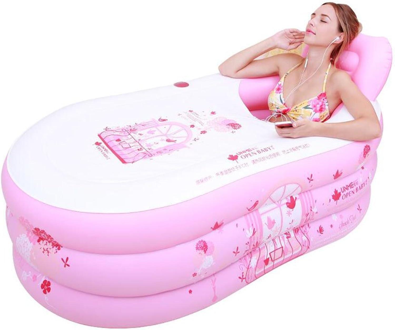 Bathtub ZI LING SHOP- Plastic Inflatable Thickening Adult Folding Bath Barrel Bath Tub (Size   M)