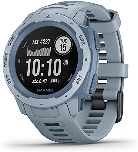 Garmin Instinct, Rugged Outdoor Watch with GPS, Features GLONASS and Galileo, Heart Rate Monitoring and 3-Axis Compass, Sea Foam, One Size (010-02064-05)