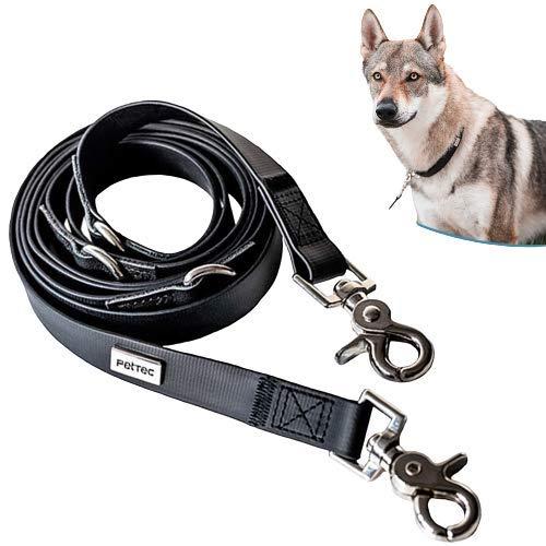 PetTec Hundeleine 2m & 10m *Schleppleine/Führleine* für Hunde bis 60kg, leichte Trainingsleine/Ausbildungsleine/Trekkingleine verstellbar aus TRIOFLEX (ähnl. Biothane), wasserabweisend, Dog Lead