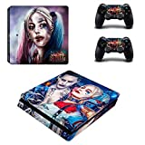 Adesivi Slim Joker e Harley Quinn Ps4 per console e controller Playstation 4 Ps4 Slim