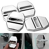 Funda protectora de acero inoxidable para cerraduras del interior del coche (compatible con Mercedes Benz, 4 unidades)