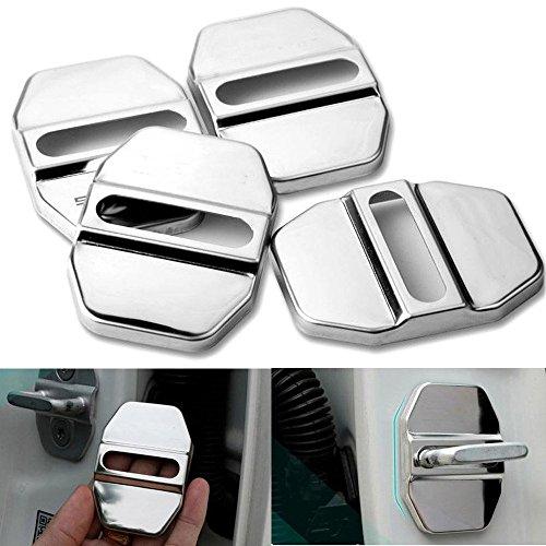 Cover protettiva per gancio di chiusura della portiera dell'auto, in acciaio inox, 4 pezzi