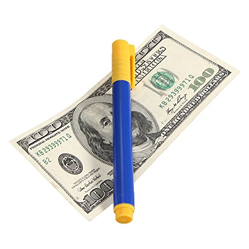 Gefälschte Geldscheine, Geldscheinprüfstifte, hohe Kapazität, gefälschte Geldscheine, Geldtester, Stift Tester Free Size blau