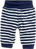 Schnizler Baby-Unisex Pumphose Fleece maritim mit Strickbund Hose, Blau (Marine/Weiß 171), 74