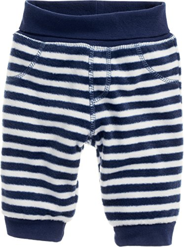 Schnizler Baby-Unisex Pumphose Fleece maritim mit Strickbund Hose, Blau (Marine/Weiß 171), 80