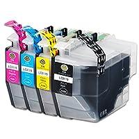 YUUSHA LC3119 Brother ブラザー 互換インクカートリッジ ICチップ残量表示機能付け LC3119-4PK 4色セット