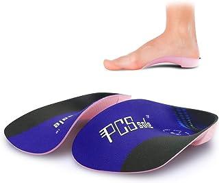 Pcssole's 3/4 solette ortopediche per solette plantari per arco alto Solette per scarpe per fascite plantare, piedi piatt...