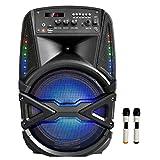 "Gadget Wagon Sonic 8"" Bluetooth Trolley Speaker with 2 Wireless mics, FM Radio"
