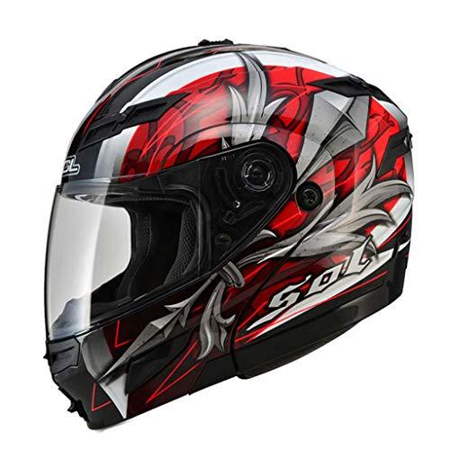 Casque moto double casque mâle et femelle casque intégral (Couleur : A-L57-58CM)