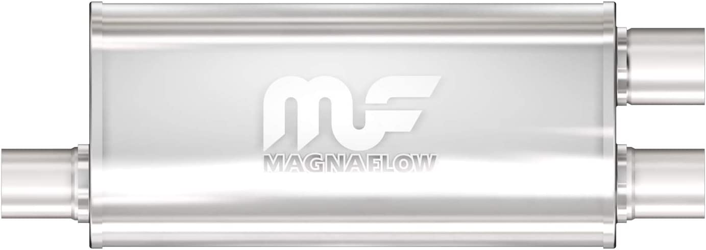 MagnaFlow 5in x 8in Oval Offset/Dual (Transverse) Performance Mu