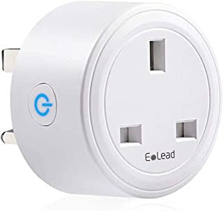 ELEAD Smart WiFi Plug Outlet Socket Extension Mini Timer Plugs No Hub Required Remote Control Home Appliances Only Supports 2.4GHz Network Compatiable with Alexa, Google Home(1 PACK)