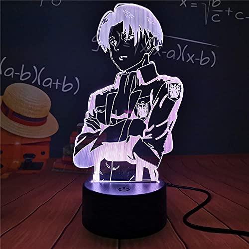 Night Light Anime Gift Attack on Titan Lámpara de ilusión 3D Lámpara de mesa colorida LED para el dormitorio del hogar