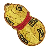 OYSTERBOY 3 Inch Iron On/ Sew On Applique Decorative Patch Well Made Premium Quality 100% Threads Embroidered Japanese Ninja Gaara's Sand Gourd for Cosplay Costume DIY