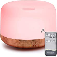 Essential Oil Air Mist Diffuser - Quiet Aroma Essential Oil Diffuser with Adjustable Cool Mist Humidifier Mode Waterless Auto-off 7 Color LED Lights Changing for Office Home Bedroom Living Room